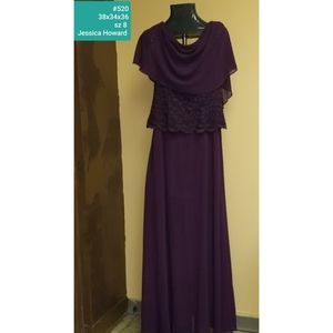 Size 8 Jessica Howard Wine mother of Bride dress.